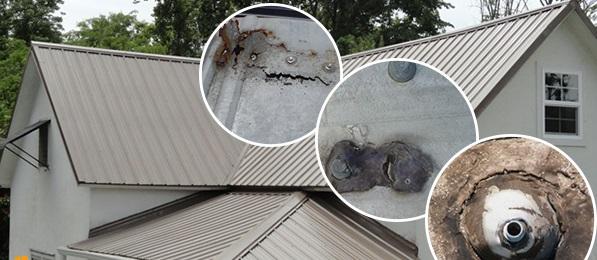 Dột mái tôn ở các vị trí thủng tô