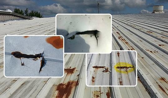 2.1. Dột mái tôn ở vị trí nối mái, nối máng, thoát nước nhỏ